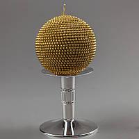 Свадебная свеча Золотой шар 10 см 035Q