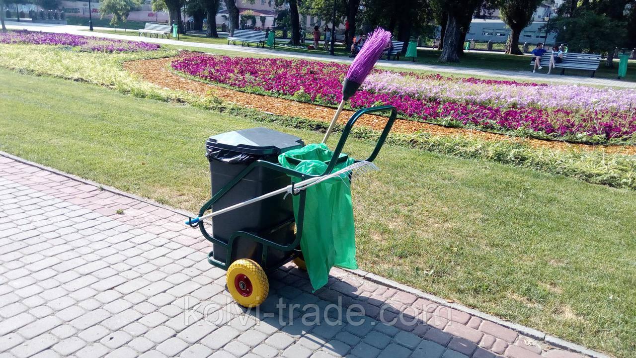 Тележки для уборки улиц (с емкостью) для мусора