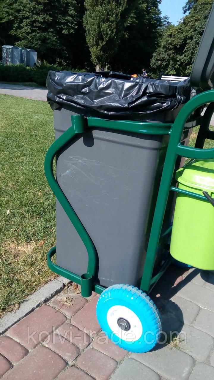 Тележка дворника для сбора и вывоза мусора