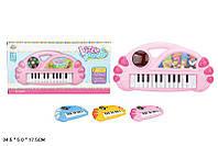 Музыкальный синтезатор детский орган J66-02A/3A/6A музыкальная игрушка детская , в пакете 34,5*5*17,5 см.