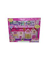 Кукольный домик игровой набор 16526   батарейки ,  музыкальная игрушка детская , в кор 54,2*7,5*43,3 см.
