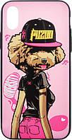 Чехол-накладка PUZOO TPU Glossy Surface IMD Hip Hop iPhone X DJ Teddy Pink