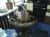 Круглое стекло для стола
