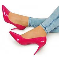 Розовые женские туфли на шпильке под платье, фото 1