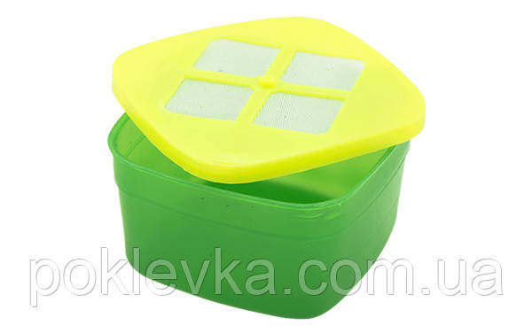 Коробка ЕТ для Опарыша с сеткой квадратная