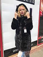 Женская норковая шуба с капюшоном  размеры норма, фото 1