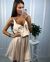 Платье женское из шелка Армани на тонких бретелях