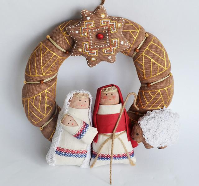 сувенир рождественский веночек.