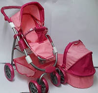 Коляска для кукол Melogo 9662 M, розовый