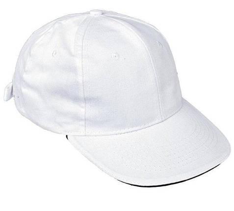 Кепка (бейсболка) хлопок Tulle 100% Сotton белая, фото 2