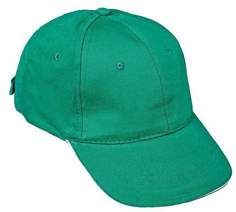 Кепка (бейсболка) хлопок Tulle 100% Сotton зеленая, фото 2