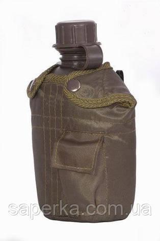 Фляга пластиковая США с подстаканником и термочехлом (Mil-tec Olive), фото 2