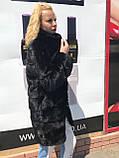 Женская норковая шуба с воротником стойка размеры норма, фото 4