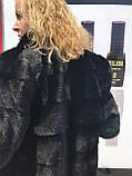 Женская норковая шуба с воротником стойка размеры норма, фото 6