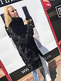 Женская норковая шуба с воротником стойка размеры норма, фото 7