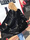 Женская норковая шуба с воротником стойка размеры норма, фото 3