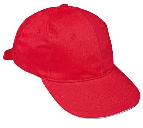 Кепка (бейсболка) хлопок Tulle 100% Сotton красная, фото 2