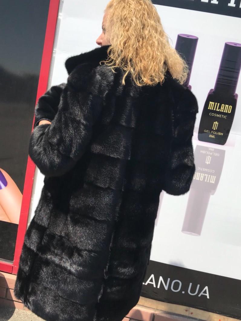 Женская норковая шуба с воротником стойка размеры норма, фото 1