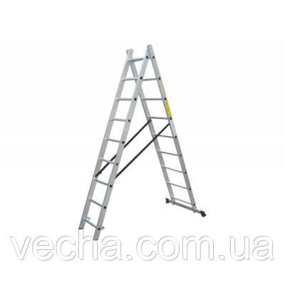 Лестница двухсекционная алюминиевая 2х8 Werk