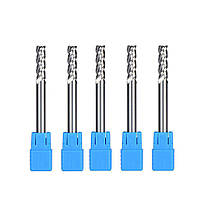 Фреза по алюминию D2,5 мм, d4 мм, Lреж 7 мм, L50 мм, 3 зуба, твердый сплав