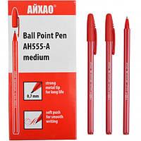 Ручка шариковая AH-555 AIHAO original красная