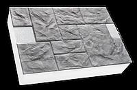 Фасадные термопанели на пенополистироле серый Песчаник колотый 500*500 50мм (35кг/м2)