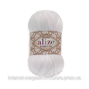 Пряжа Alize Forever белый