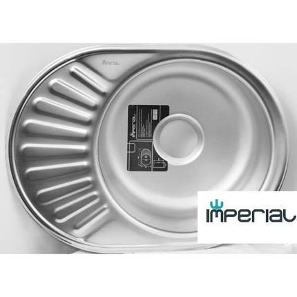 Кухонная мойка Imperial из нержавеющей стали 6044 satin 08мм, фото 2