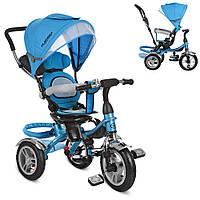 Велосипед M 3114-5A (1шт)три кол.резина (12/10),колясоч.поворот,своб.ход колеса,тормоз,подшипн,голу