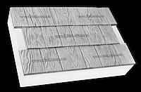 Фасадные термопанели на пенополистироле белые Щепа 600*400 50мм (25кг/м2)