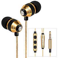 Навушники Betron B25, шумоізолюючі, з чистим звуком і потужним басом, не заплутуються, iPhone, iPad, Samsung
