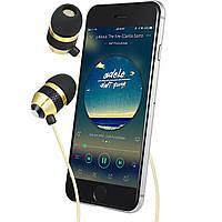 Betron B25 Золотой цвет Шумоизолирующие наушники, с чистым звуком и мощным басом iPhone, iPad,Samsung.