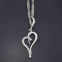 Серебряная цепочка в сочетании с кулоном – изящный выбор для свадебной церемонии