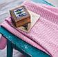 Плед детский вязаный Vividzone КОЛОСОК 110х120 розовый, фото 2