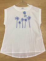 Женская футболка белая с пальмами