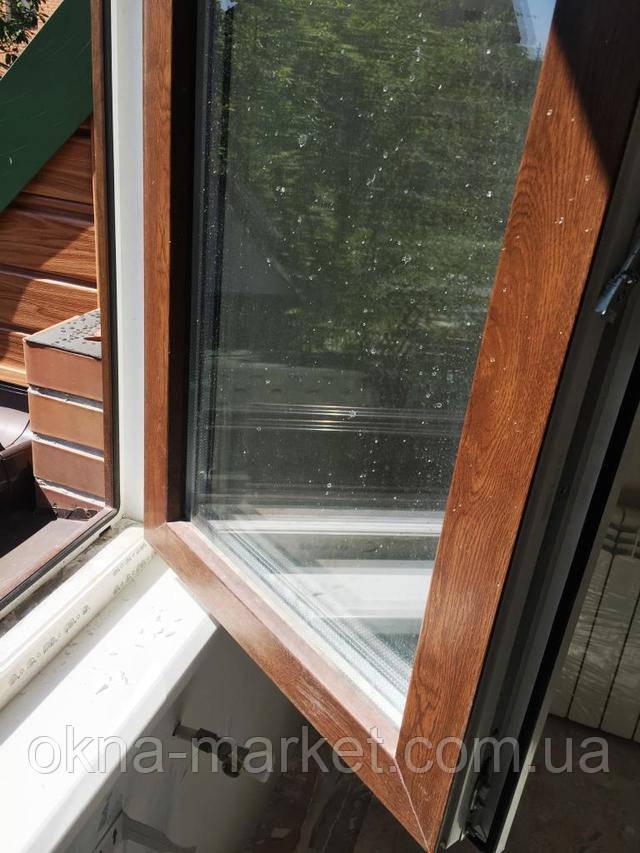 Одностворчатое ламинированное окно Rehau (Рехау)