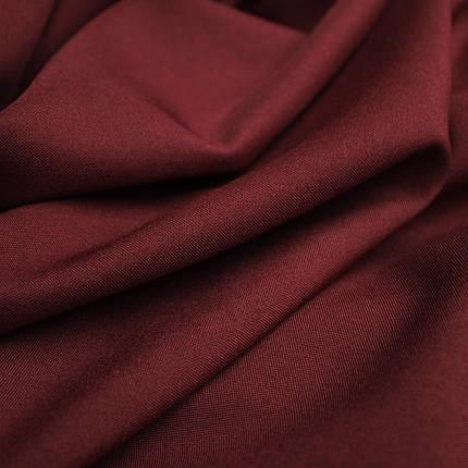 Костюмная ткань габардин бордовый, фото 2