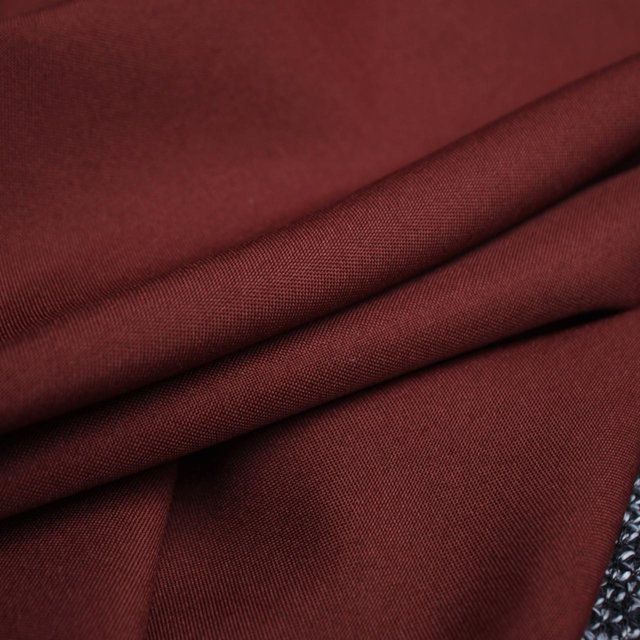Костюмная ткань габардин бордовый
