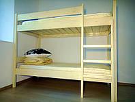 Двухъярусная кровать натуральное дерево