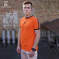 Футболка HARD lampas (оранж SS18) оранжевая с лампасами