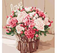 Картина по номерам Роспись на холсте Розы любви КНО2074 без коробки