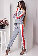Модный спортивный костюм Летиция серый(42-46)