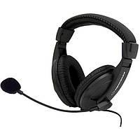 Гарнитура (наушники с микрофоном) Esperanza EH103 Black, 2 x Mini jack (3.5 mm), накладные, кабель 2.5 м