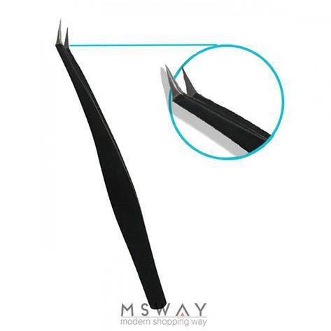 SPL - Пинцет для моделирования 9324 черный загнутый узкая ручка, фото 2