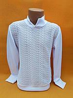 Блузка школьнаяподростковая для девочки 9-12лет с длиннымрукавом, белая