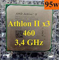 Процессоры (б/у) AMD Athlon II X3 460, 3,4ГГц, Tray  440 450 455 435 425 ADX460WFK32GM