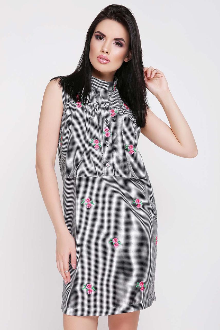 daf0a105a8e Летнее платье с воротником стойка - оптово - розничный интернет - магазин