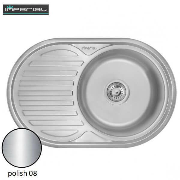 Кухонная мойка Imperial из нержавеющей стали 7750 polish 08mm