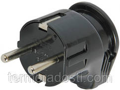 Бытовая вилка угловая E-Next (з/к 16А) e.plug.angle.007.16