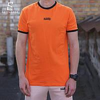 Мужская футболка HARD — НШВ оранжевая, фото 1